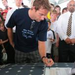 Jenson Button signing Endeavour
