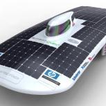 The CUER team's new solar-powered racing car design