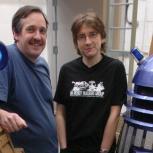 Dalek builders David James (left) and Adam Strawson