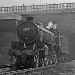 61159 running light engine near Potters Bar 15 Sept 1962