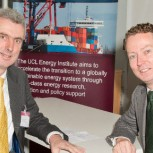 Minister of State for Energy Greg Barker with Dr Julian Allwood (left)