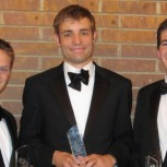 SET award winners, left to right: Peter Whiteley, James Parker, Robert Woodward