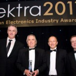 Professor Bill Milne Head of the Electrical Engineering division with the award