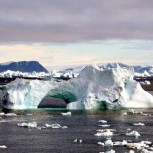 Melting ice in the Arctic