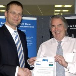 The Director of CAPE Professor Bill Milne (right)