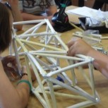 Students tackle the crane construction challenge