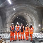 Engineering students at the Crossrail Liverpool Street station and tunnels site