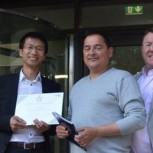 The CSIC winning team (from left) Dr Xiaomin Xu, Research Associate, Dr Cedric Kechavarzi, Operations Manager and Philip Keenan
