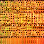 Detail of a silicon photonic chip by Qixiang Cheng