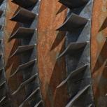 Part of a gas turbine, Industrial Museum Zschornewitz, Saxony-Anhalt, Germany