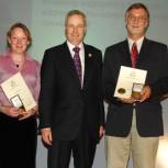 Professor Charles Ainger, Dr Heather Cruickshank, President of ICE, Quentin Leiper, Dr Dick Fenner, Professor Peter Guthrie