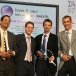 Gopal Madabhushi (second from left) and team win a Medical Futures Innovation Award