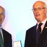 Professor Robert Mair receiving his medal