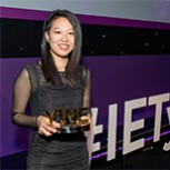 Ying with her trophy