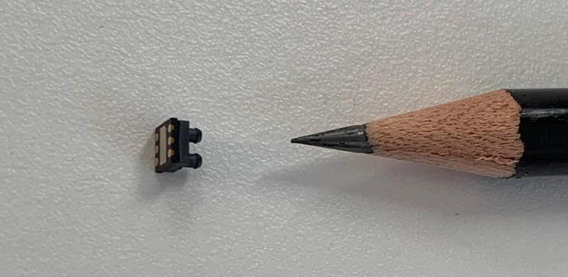sensor and pencil to show scale