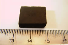 A sintered block on the new high temperature superconducting material, MgB2